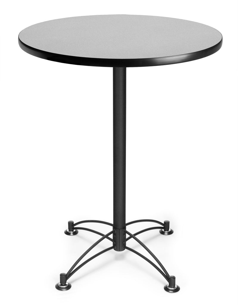 "OFM Model CBLT30RD 30"" Round Cafe Height Table, Gray Nebula with Black Base ; UPC: 845123006559 ; Image 1"