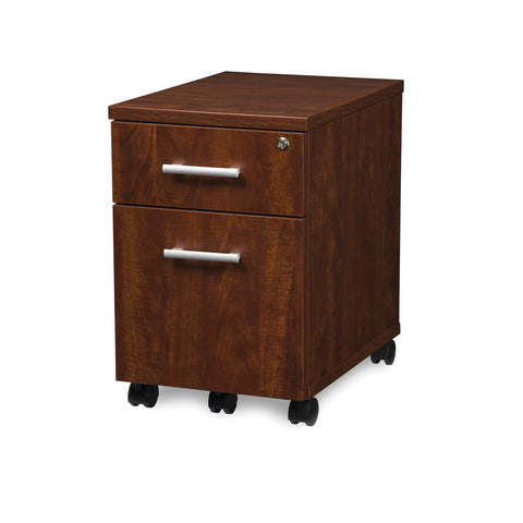 OFM Fulcrum Series Locking Pedestal, Mobile 2-Drawer Filing Cabinet, Cherry (CL-MBF-CHY) ; UPC: 845123097540 ; Image 6