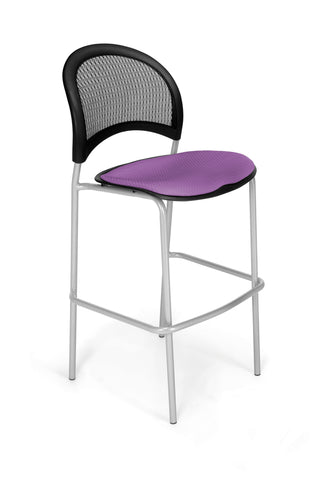 OFM 338S-2214 Moon Cafe Height Silver Chair, Plum ; UPC: 845123004951 ; Image 1