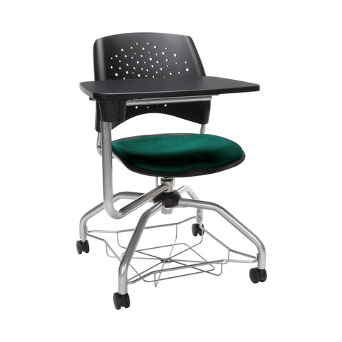 OFM Stars Foresee Series Tablet Chair with Removable Fabric Seat Cushion - Student Desk Chair, Forest Green (329T) ; UPC: 845123094273 ; Image 1