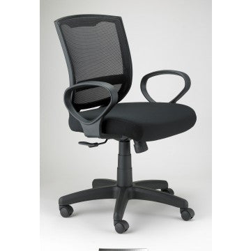 Eurotech_Eurotech Maze Mid-Back Task Chair - Multifunction - Black Mesh Back & Fabric Seat_	 - 1