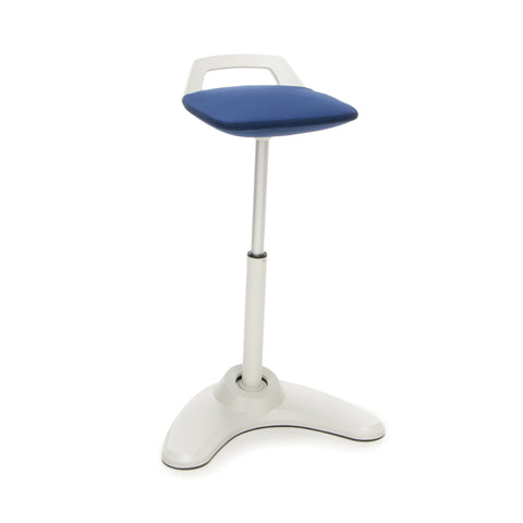 OFM VIVO Adjustable Height Bar Stool - Contemporary Perch Stool Chair, Blue with Cream Trim (2800-CRM-BLU) ; UPC: 845123090930 ; Image 1