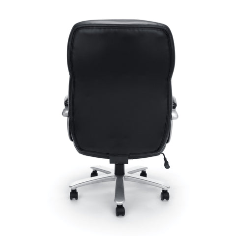 Essentials by OFM ESS-202 Big and Tall Leather Executive Office Chair with Arms, Black/Silver ; UPC: 845123080139 ; Image 3