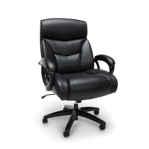 Essentials by OFM ESS-6040 Big and Tall Executive Bonded Leather Chair, Black ; UPC: 845123092965 ; Image 1