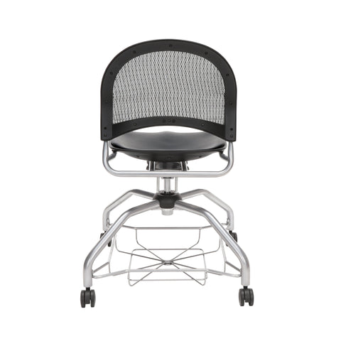 OFM Moon Foresee Series Chair with Removable Vinyl Seat Cushion - Student Chair, Black (339-VAM) ; UPC: 845123094563 ; Image 3