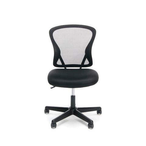 Essentials by OFM ESS-3010 Swivel Mesh Back Armless Task Chair, Mid Back, Black ; UPC: 089191013419 ; Image 2