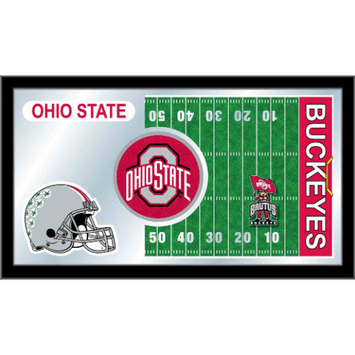 "Ohio State 15"" x 26"" Football Mirror by Holland Bar Stool Company; UPC: 071235384210"