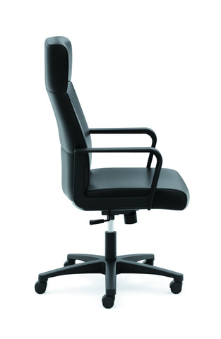 HON Validate High-Back Executive Task Chair, Fixed Arms, in Black Leather (HVL604) ; UPC: 888531643459 ; Image 4