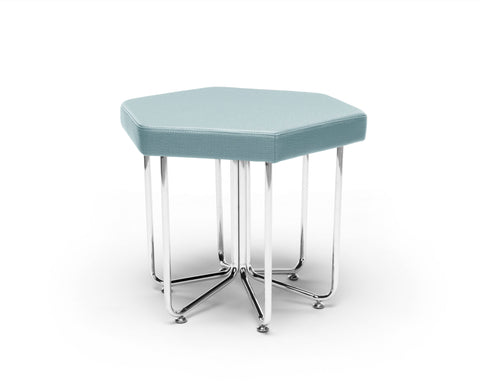 OFM 66-AQU Hex Series Stool with Chrome Frame ; UPC: 845123080016 ; Image 1