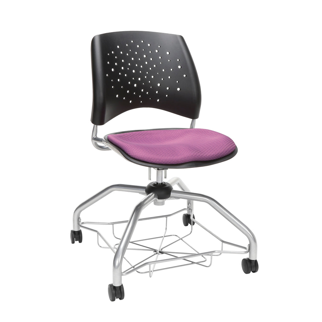 OFM Stars Foresee Series Chair with Removable Fabric Seat Cushion - Student Chair, Plum (329) ; UPC: 845123094037 ; Image 1