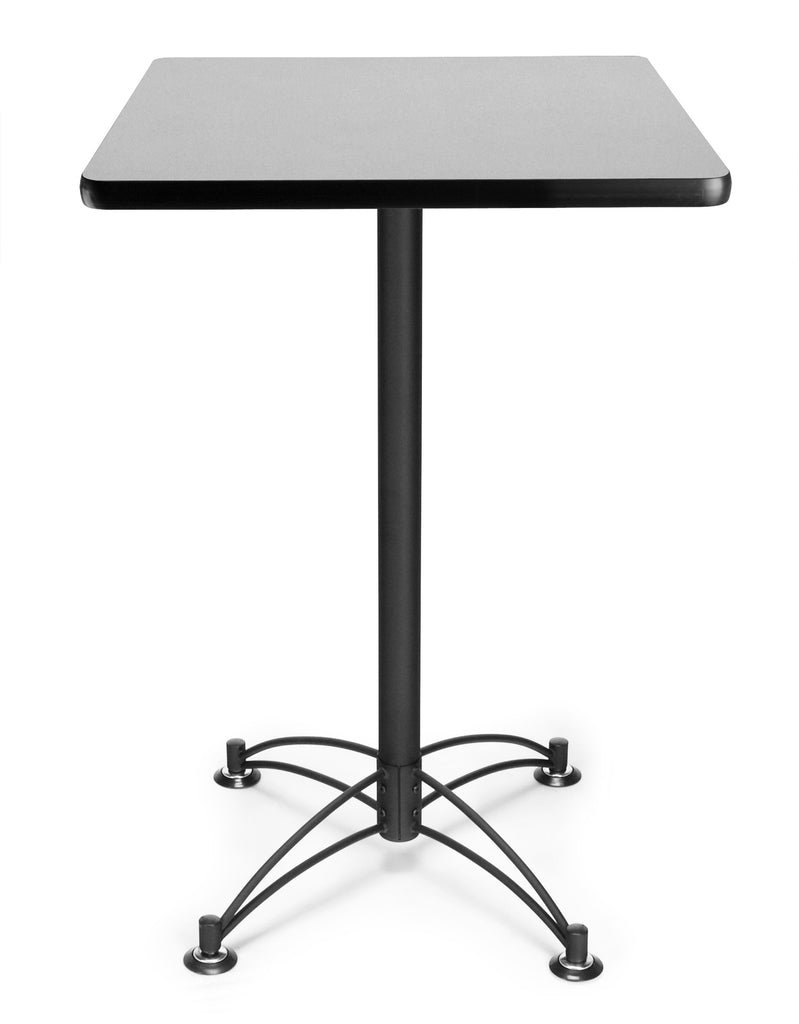 "OFM Model CBLT24SQ 24"" Square Cafe Height Table, Gray Nebula with Black Base ; UPC: 845123006474 ; Image 1"