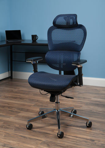 OFM Model 540-BLU Core Collection Ergo Mesh Office Chair with Head Rest for Computer Desk, Blue ; UPC: 192767000376 ; Image 12