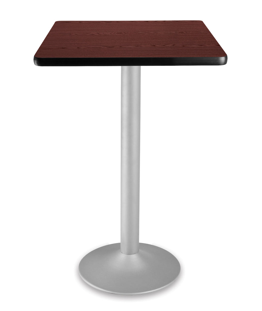 "OFM Model CFT24SQ 24"" Square Folding Cafe Height Table with Pedestal Base, Mahogany ; UPC: 845123006252 ; Image 1"