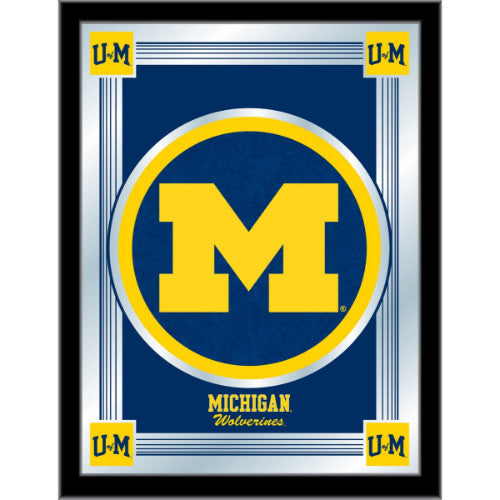 "Michigan 17"" x 22"" Logo Mirror by Holland Bar Stool Company; UPC: 071235380526"