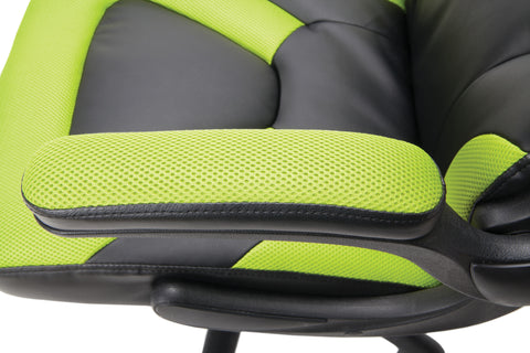 OFM Essentials Collection Racing Style Bonded Leather Gaming Chair, in Green (ESS-3085-GRN) ; UPC: 845123089293 ; Image 9