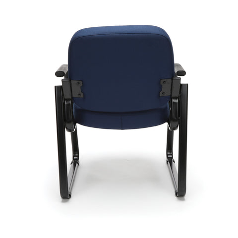 OFM Model 403 Fabric Guest and Reception Chair with Arms and Extra Thick Cushion, Navy ; UPC: 811588014149 ; Image 3