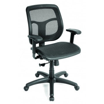 Eurotech_Eurotech Apollo Mid-Back Chair - Features Synchro-Tilt - Black Mesh Seat & Back_	 - 1