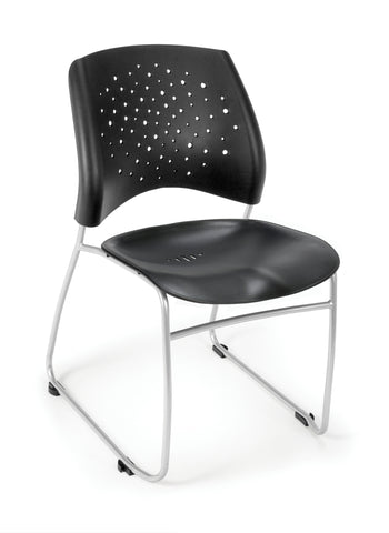 OFM 325-P-BLK Stars Stack Chair with Plastic Seat ; UPC: 811588016792 ; Image 1