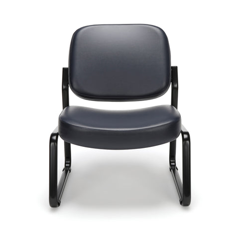 OFM Model 409-VAM Big and Tall Armless Guest and Reception Chair, Anti-Microbial/Anti-Bacterial Vinyl, Navy ; UPC: 845123028698 ; Image 2