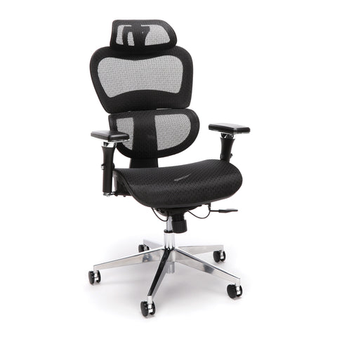 OFM Core Collection Ergo Office Chair featuring Mesh Back and Seat with Head Rest, in Black (540-BLK) ; UPC: 192767000369 ; Image 1