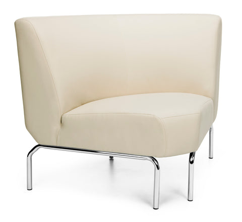 OFM Triumph Series Model 3090 Polyurethane Armless Modular 90 Degree Lounge Chair, Cream ; UPC: 845123052686 ; Image 1