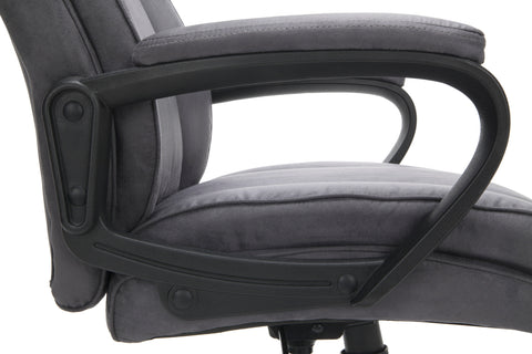 Essentials by OFM ESS-3081 Plush High-Back Microfiber Office Chair, Gray ; UPC: 845123095263 ; Image 10