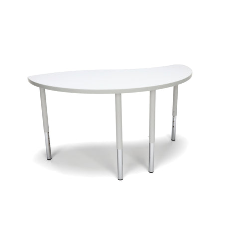 OFM Adapt Series Ying Standard Table - 23-31? Height Adjustable Desk, White (YING-LL) ; UPC: 845123096451 ; Image 1