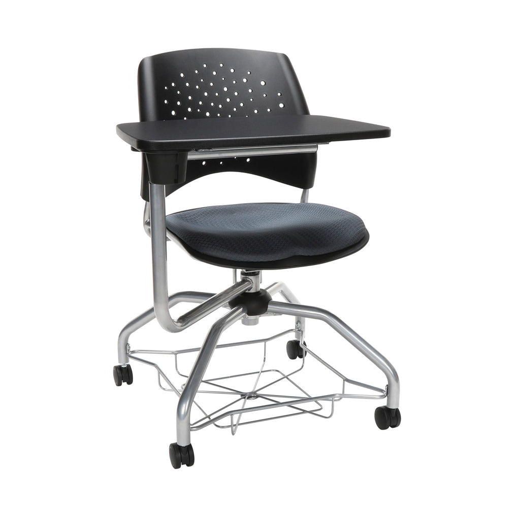 OFM Stars Foresee Series Tablet Chair with Removable Fabric Seat Cushion - Student Desk Chair, Slate Gray (329T) ; UPC: 845123094242 ; Image 1