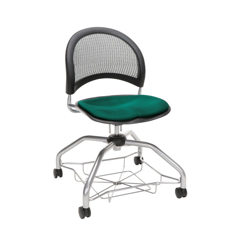 OFM Moon Foresee Series Chair with Removable Fabric Seat Cushion - Student Chair, Forest Green (339) ; UPC: 845123094495 ; Image 1