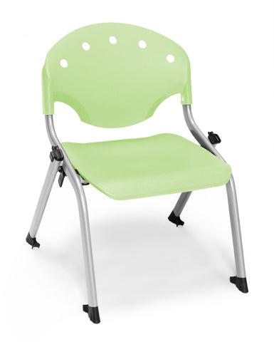"OFM 305-12-P52 Student Stack Chair, 12"" Height, Lime Green (Pack of 4) ; UPC: 845123022016 ; Image 1"