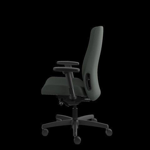 HON Endorse Mid-Back Task Chair with Lumbar Support, in Iron Ore (HLWU) ; UPC: 889218155166 ; Image 5