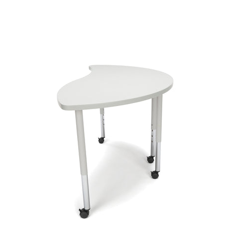 OFM Adapt Series Ying Standard Table - 25-33? Height Adjustable Desk with Casters, Gray Nebula (YING-LLC) ; UPC: 845123096475 ; Image 5