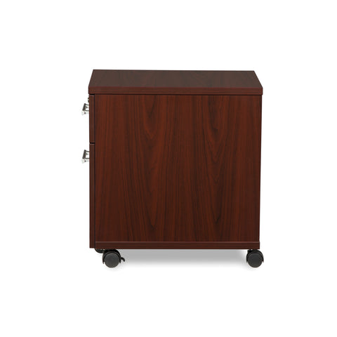 OFM Fulcrum Series Locking Pedestal, Mobile 2-Drawer Filing Cabinet, Mahogany (CL-MBF-MHG) ; UPC: 845123097533 ; Image 5
