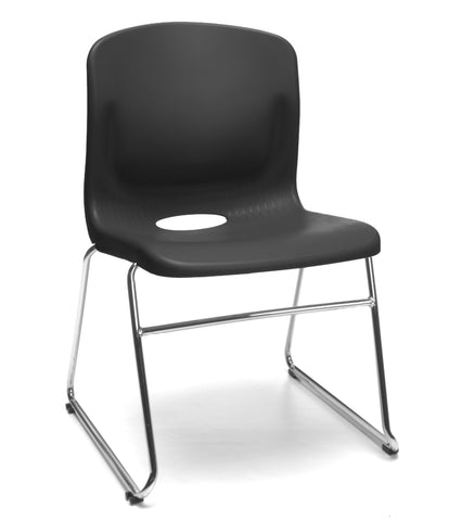 OFM Model 315 Multi-Use Stack Chair, Plastic Seat and Back, Black ; UPC: 845123003664 ; Image 1
