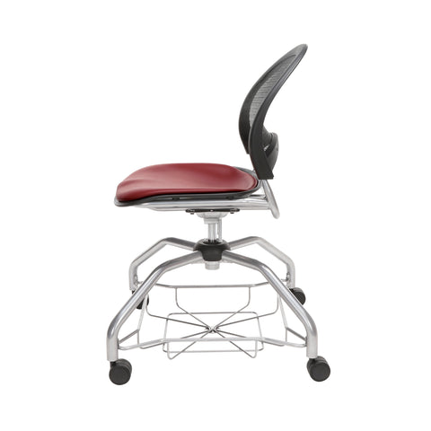 OFM Moon Foresee Series Chair with Removable Vinyl Seat Cushion - Student Chair, Wine (339-VAM) ; UPC: 845123094532 ; Image 5