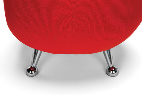 OFM Jupiter Series Fabric Ball Stool, in Red (2001-2312) ; UPC: 845123053324 ; Image 8