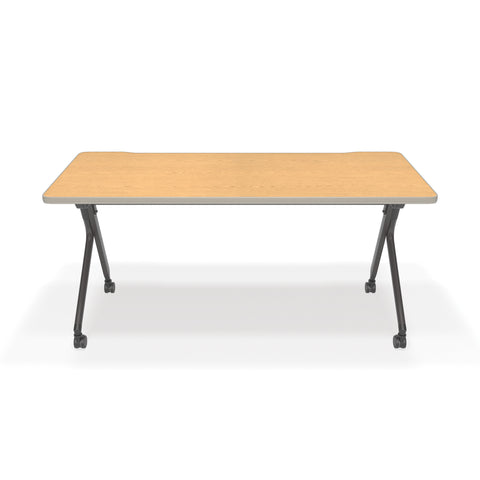 "OFM Mesa Series Model 66152 Flip Nesting Training Table and Desk, 23.5"" x 59"", Oak ; UPC: 845123080405 ; Image 2"