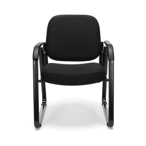 OFM Model 403 Fabric Guest and Reception Chair with Arms and Extra Thick Cushion, Black ; UPC: 811588014163 ; Image 2