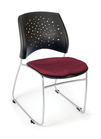 OFM 325-2211 Stars Stack Chair with Fabric Seat ; UPC: 845123004456 ; Image 1
