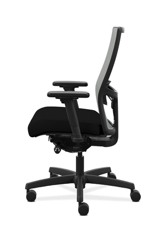 HON Ignition 2.0 Mid-Back Adjustable Lumbar Work Chair - Fog Mesh Computer Chair for Office Desk, Black Fabric (HONI2M2AFLC10TK) ; UPC: 888206730880 ; Image 5