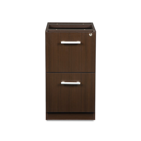 OFM Fulcrum Series Locking Pedestal, 2-Drawer Filing Cabinet, Espresso (CL-FF-ESP) ; UPC: 845123097489 ; Image 2