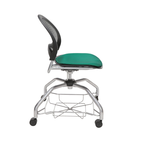 OFM Moon Foresee Series Chair with Removable Fabric Seat Cushion - Student Chair, Shamrock Green (339) ; UPC: 845123094358 ; Image 4