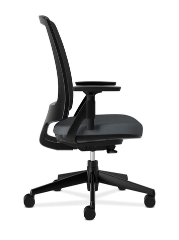 HON Lota Office Chair - Mid Back Mesh Desk Chair or Conference Room Chair, Charcoal (H2281) ; UPC: 881728407841 ; Image 4