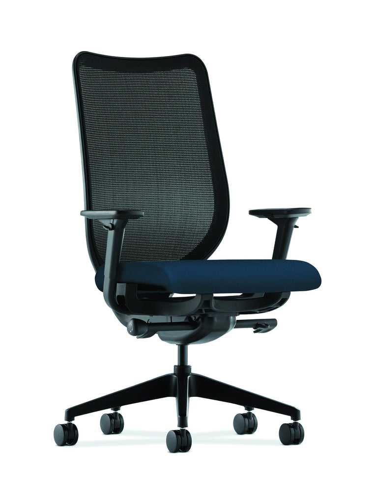 HON Nucleus Task Chair with Mesh Back, in Navy (HN1) ; UPC: 752856008142 ; Image 1