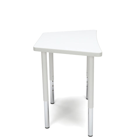 OFM Adapt Series Trapezoid Standard Table - 23-31? Height Adjustable Desk, White (TRAP-LL) ; UPC: 845123096697 ; Image 4