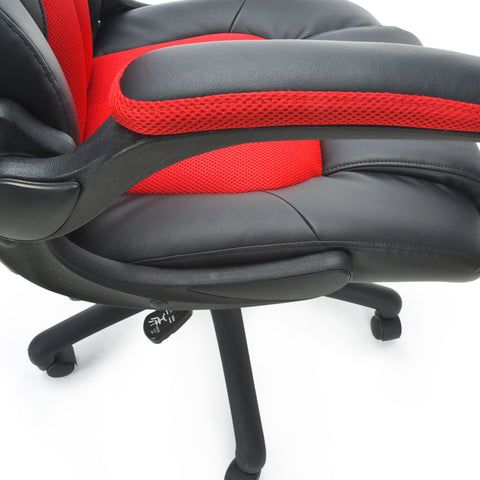 OFM Essentials Collection High-Back Racing Style Bonded Leather Gaming Chair, in Red (ESS-3086-RED) ; UPC: 845123090640 ; Image 9