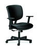 HON Volt Task Chair | Center-Tilt, Tension, Lock | Adjustable Arms | Black SofThread Leather