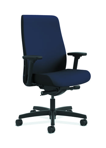 HON Endorse Mid-Back Task Chair with Lumbar Support, in Navy (HLWU) ; UPC: 888206775744 ; Image 1