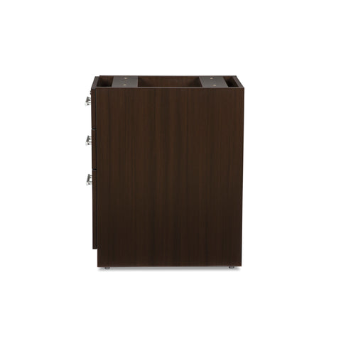 OFM Fulcrum Series Locking Pedestal, 3-Drawer Filing Cabinet, Espresso (CL-BBF-ESP) ; UPC: 845123097441 ; Image 5