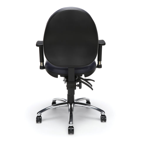 OFM Model 247-VAM 24 Hour Big and Tall Ergonomic Computer Swivel Task Chair with Arms, Anti-Microbial/Anti-Bacterial Vinyl, Navy ; UPC: 811588013043 ; Image 3